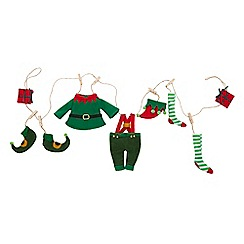 Home Collection - Red 'Elf Laundry' Christmas garland