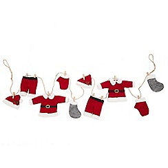Home Collection - Red 'Santa's Laundry' Christmas garland