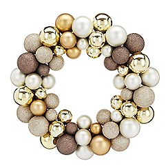 Home Collection - Gold bauble Christmas wreath