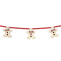 Home Collection - Multi-coloured gingerbread men garland