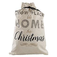 Festive - Multi-coloured 'Snow Place Like Home This Christmas' sack