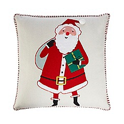Home Collection - White 'Santa' cushion