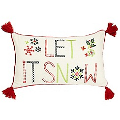 Home Collection - Cream 'Let It Snow' cushion