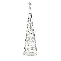 Home Collection - Silver reindeer tree Christmas ornament