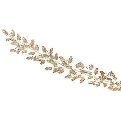 Festive - Gold ivy leaf Christmas garland