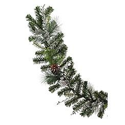 Festive - Silver reindeer Christmas garland