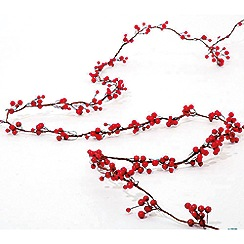 Festive - Red 3D mini berry Christmas garland