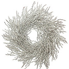 Festive - White frosted twig Christmas wreath