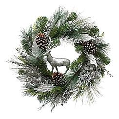 Festive - Silver reindeer Christmas wreath