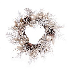 Festive - Gold champagne Christmas wreath