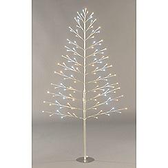 Festive - 4ft silver matt LED Christmas tree