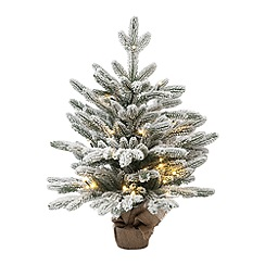Festive - 2ft green Swiss burlap pine Christmas tree
