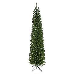 Festive - 6.5ft green slim Glenmore pine Christmas tree