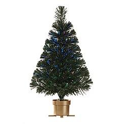 Festive - 2 feet multi-coloured fibre optic Christmas tree