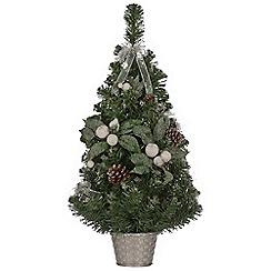 Festive - 2 feet green Christmas snowberry tree