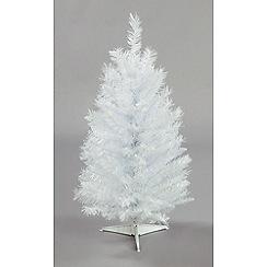 Festive - 3 feet white iridescent Christmas pine tree