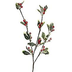 Gisela Graham - Multi-coloured red berry stem decoration