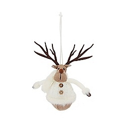 Home Collection - Cream reindeer Christmas decoration