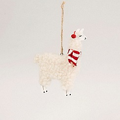 Sass & Belle - Multicoloured llama Christmas tree decoration