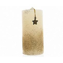 Kaemingk - Large gold and ivory pillar candle