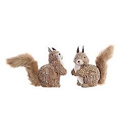 Kaemingk - Brown grass squirrel Christmas figurine