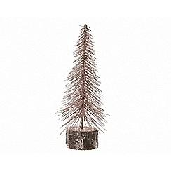 Kaemingk - Small bronze snowy tree Christmas ornament
