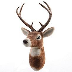 Kaemingk - Brown reindeer head ornament