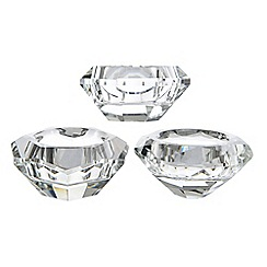 Kaemingk - Silver diamond tea light holder