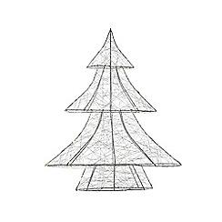 Kaemingk - Multi-coloured metal wire LED light indoor Christmas tree