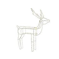Kaemingk - Small multi-coloured LED light standing reindeer Christmas ornament