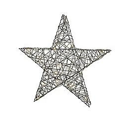 Kaemingk - Medium multi-coloured wicker LED light star Christmas ornament
