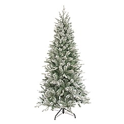 Festive - 6.5ft green slimbridge Christmas tree