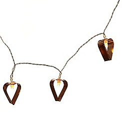 Heaven Sends - Copper heart garland with led