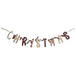 Heaven Sends - Red & white christmas wooden garland
