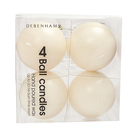 Home Collection - Set of four cream ball candles