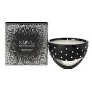 Black diamante large votive candle