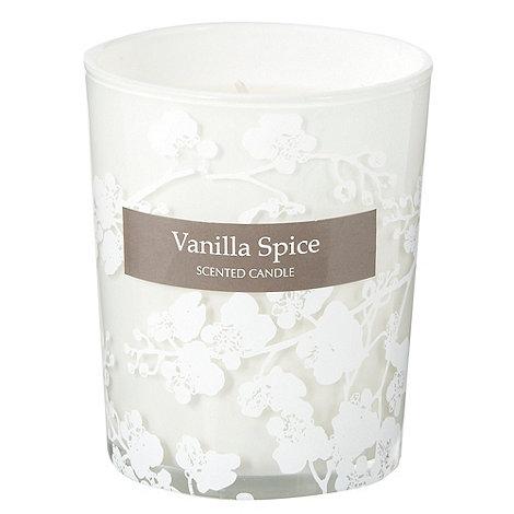 Debenhams - White small vanilla spice scented votive candle