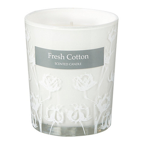 Debenhams - White small fresh cotton scented votive candle
