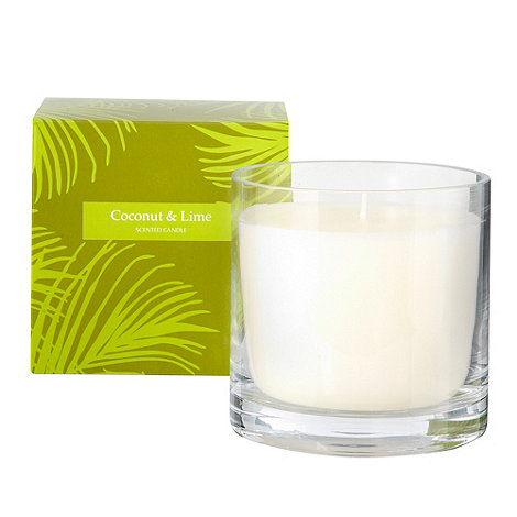 Debenhams - Green +Coconut & lime+ gift candle