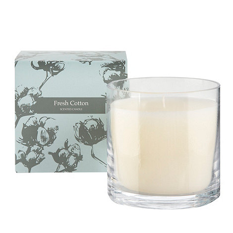Debenhams - Blue +Fresh Cotton+ gift candle