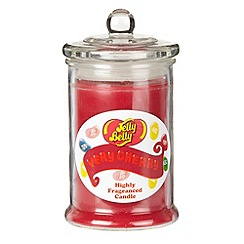 Jelly Belly - Dark pink 'Very Cherry' jar candle