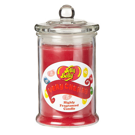 Jelly Belly - Dark pink +Very Cherry+ jar candle
