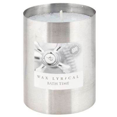 Light Blue Bath Time Tin Candle