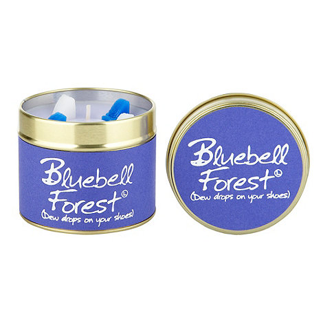 Lily Flame - Dark purple bluebull forest scented candle tin