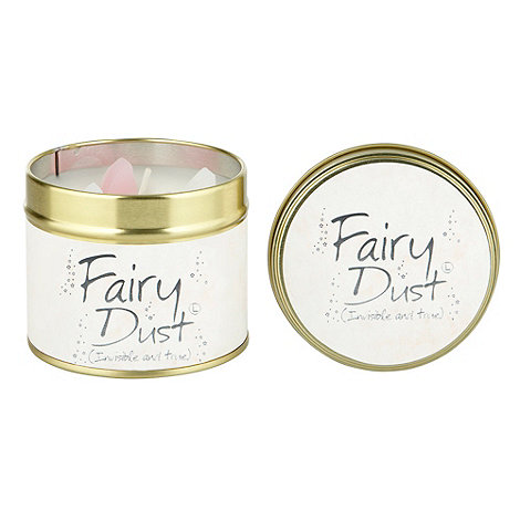 Lily Flame - Pale pink fairy dust scented candle tin