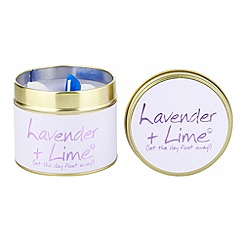 Lily Flame - Purple lavender & lime scented candle tin
