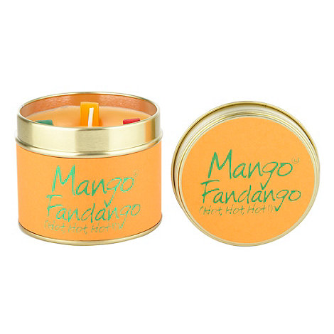 Lily Flame - Orange mango & fandango scented candle tin