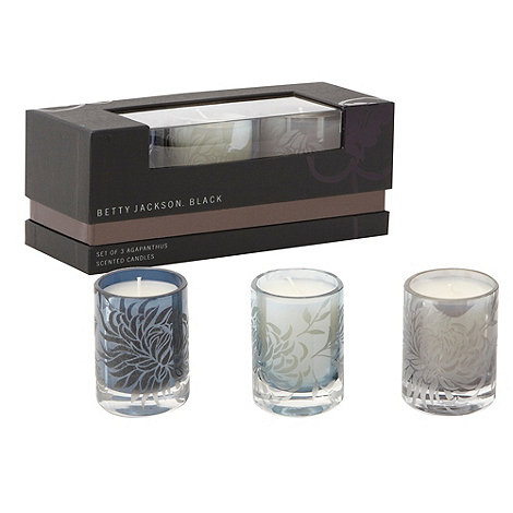Betty Jackson.Black - Set of three agapanthus scented candles
