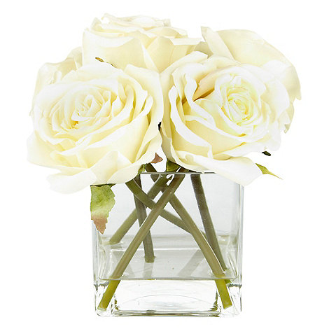 Debenhams - Cream roses in square vase