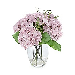 Debenhams - Purple vase of artificial hydrangeas